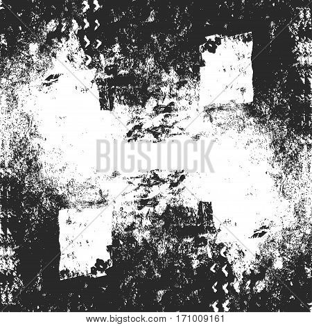 Vector grunge texture made from hand drawn acrylic painting