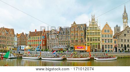 The Cityscape Of Ghent