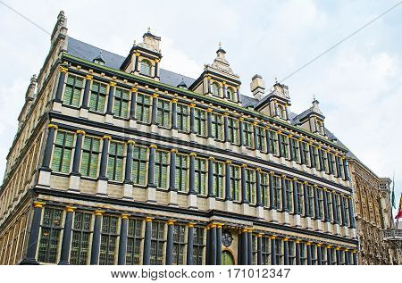 The Black Columns Of Ghent Town Hall