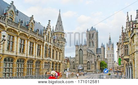 The Sint-niklaaskerk In Ghent
