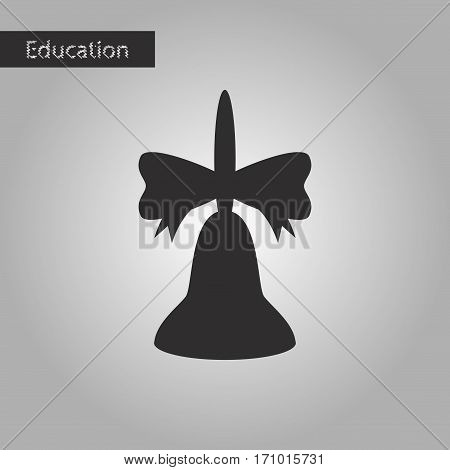 black and white style icon school bell