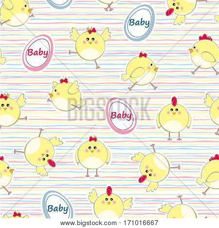 Seamless pattern for new born baby - vector illustration