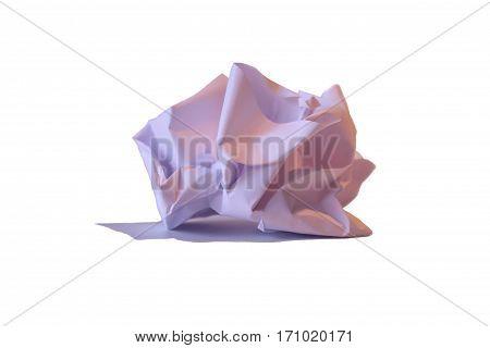 papier-maché shriveled sheet size: a4 white paper