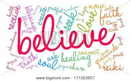 Believe Word Cloud