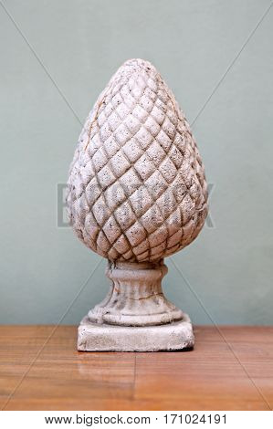 Antique Pinecone Shape Ornament Decoration Made From Stone