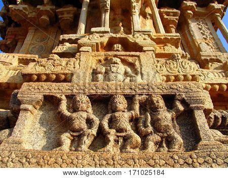 Vittala Temple in Hampi Karnataka South West India