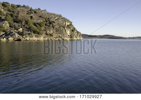 swedsih westcoast the rock outside Skapesund betwen two islands