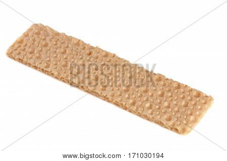 one grain crispbreads isolated on a white background.