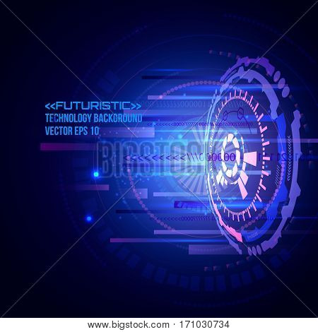 Abstract technology telecoms innovation concept background, Futuristic interface, HUD, sci-fi vector background.
