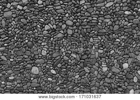 Image of black & white wall stones