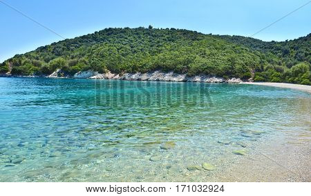 Filiatro beach at Ithaca Ionian islands Greece