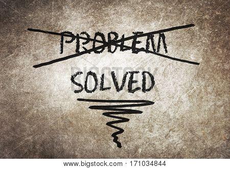 Solution For A Problem Written On Blackboard