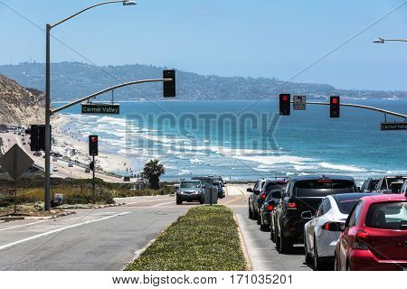 The route along the coast of Carmel Valley, California