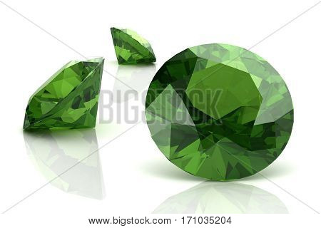 Peridot on  background (high resolution 3D image)