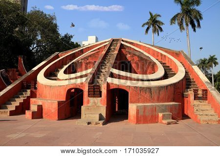 Jantar Mantar Astronomical observatory Architecture New Delhi India
