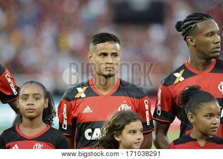 Rio Brazil - february 12 2017: Everton during Botafogo X Flamengo held at the Nilton Santos Stadium for the 4th round of the Carioca championship (Guanabara Cup)