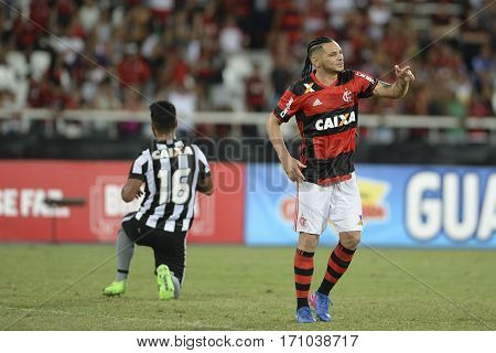 Rio Brazil - february 12 2017: Para during Botafogo X Flamengo held at the Nilton Santos Stadium for the 4th round of the Carioca championship (Guanabara Cup)