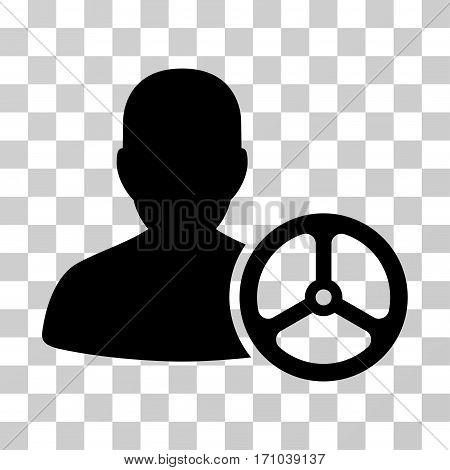 Driver Person icon. Vector illustration style is flat iconic symbol black color transparent background. Designed for web and software interfaces.