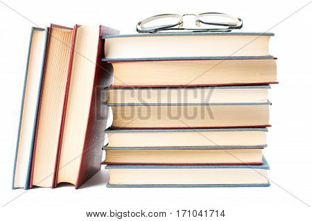Reading Glasses On Top Of Books