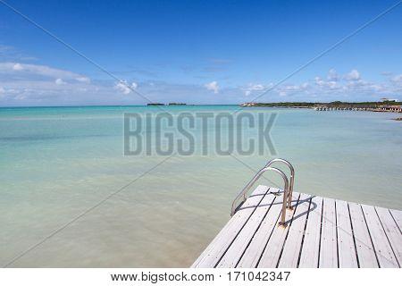 Pier at resort in Cayo Guillermo Cuba