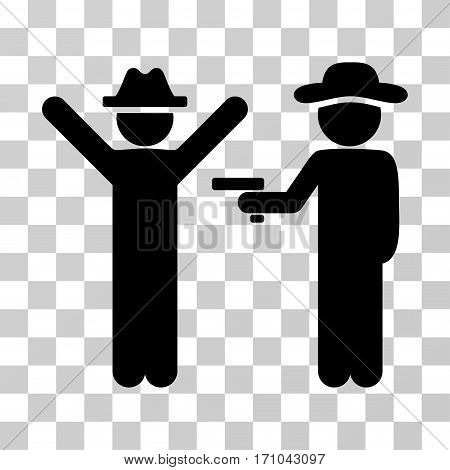 Gentleman Crime icon. Vector illustration style is flat iconic symbol black color transparent background. Designed for web and software interfaces.