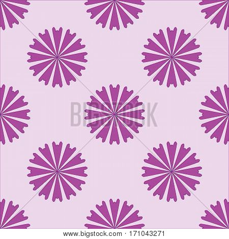 Seamless pattern with flowers on purple background