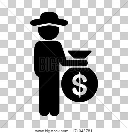 Gentleman Investor icon. Vector illustration style is flat iconic symbol black color transparent background. Designed for web and software interfaces.
