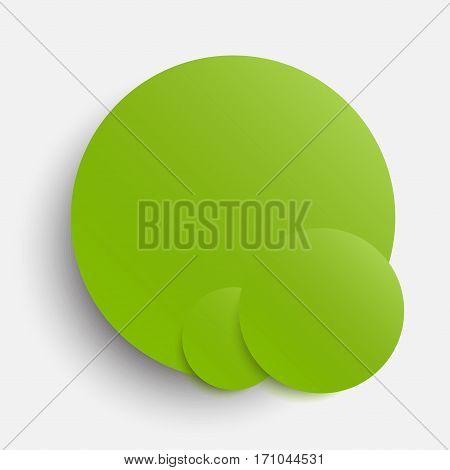 Vector Circle Banner Greenery Circle Background Card. Circles.