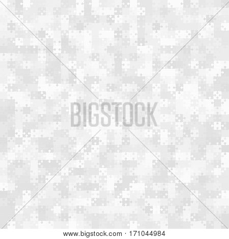 900 White Grey Puzzle Pieces Arranged in a Square - JigSaw - Vector Illustration. Jigsaw Puzzle Blank Template or Cutting Guidelines. Vector Background.