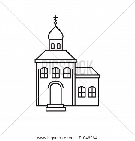 Icon of the Orthodox Church in the style of the line. Vector illustration.