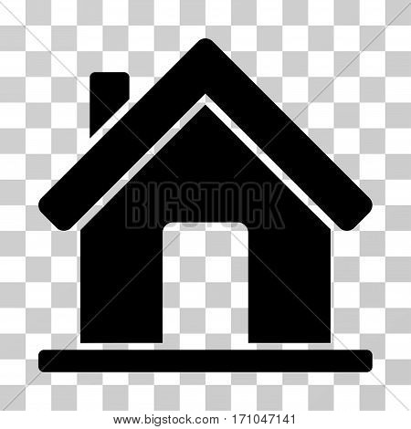 Home icon. Vector illustration style is flat iconic symbol black color transparent background. Designed for web and software interfaces.