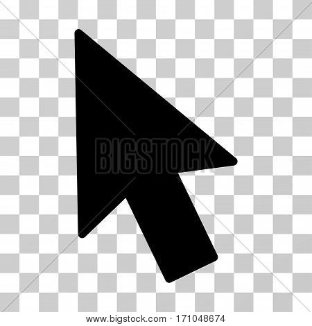 Mouse Cursor icon. Vector illustration style is flat iconic symbol black color transparent background. Designed for web and software interfaces.