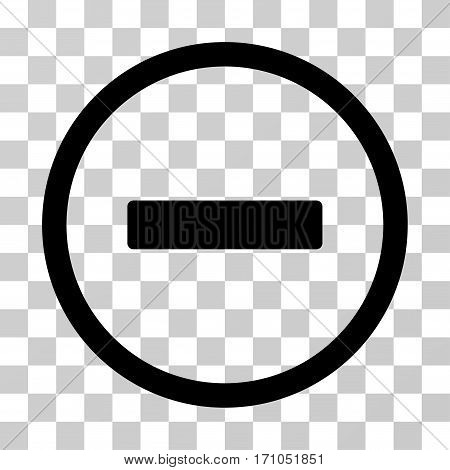 Remove icon. Vector illustration style is flat iconic symbol black color transparent background. Designed for web and software interfaces.