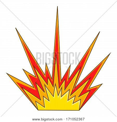 Explode flash icon. Cartoon illustration of explode flash vector icon for web