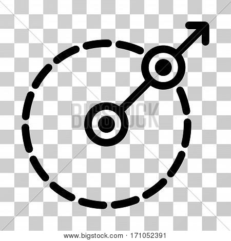 Round Area Exit icon. Vector illustration style is flat iconic symbol black color transparent background. Designed for web and software interfaces.