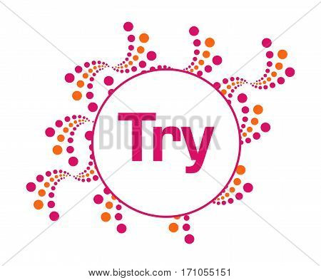 Try text written over abstract pink orange background.