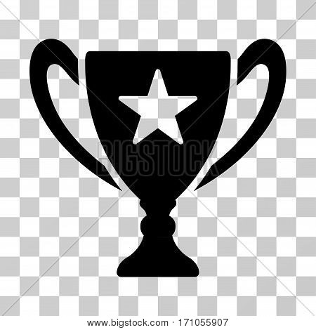 Trophy Cup icon. Vector illustration style is flat iconic symbol black color transparent background. Designed for web and software interfaces.