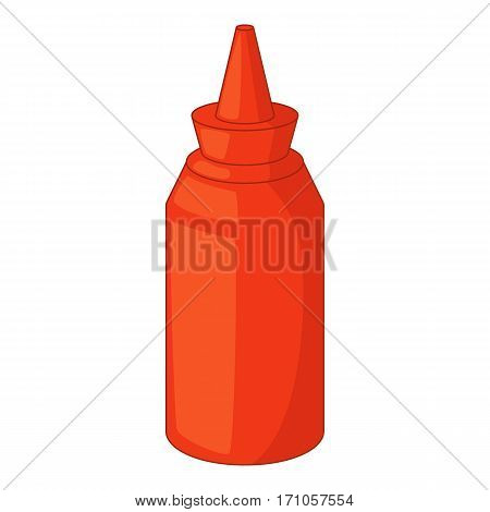Bottle of ketchup icon. Cartoon illustration of bottle of ketchup vector icon for web