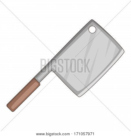Meat knife icon. Cartoon illustration of meat knife vector icon for web