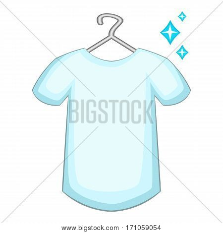 White shirt icon. Cartoon illustration of white shirt vector icon for web