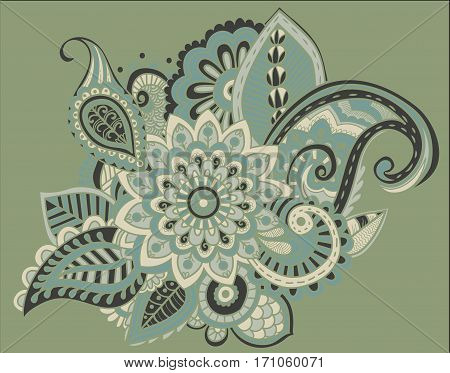 Bright Abstract wallpaper vintage flower pattern illustration