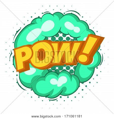 Pow, explosion bubble icon. Pop art illustration of Pow, explosion bubble vector icon for web