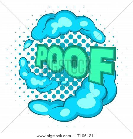 Bubble with expression Poof icon. Pop art illustration of bubble with expression Poof vector icon for web
