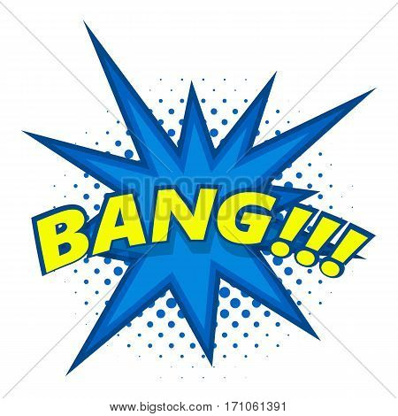 Bang, comic book explosion icon. Pop art illustration of Bang, comic book explosion vector icon for web