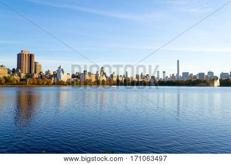 Midtown From The Northern Part Of The Jacqueline Kennedy Onassis Reservoir