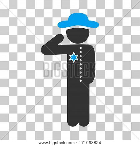 Gentleman Officer icon. Vector illustration style is flat iconic bicolor symbol blue and gray colors transparent background. Designed for web and software interfaces.