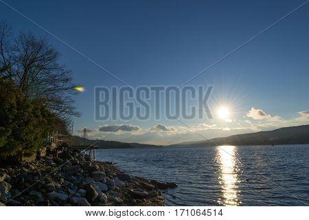 Sunset By Greenwood Lake (ny)