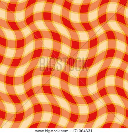 Seamless pattern orange scottish cell colorful pattern