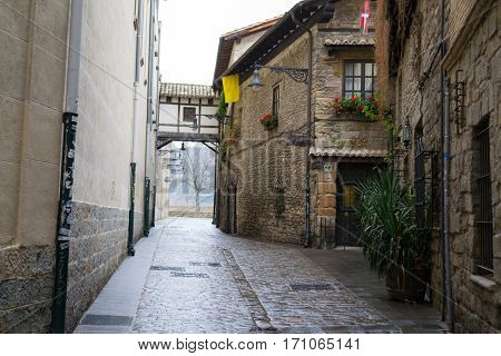 Overpass In Pamplona Old Town