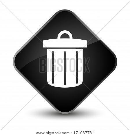 Recycle Bin Icon Special Black Diamond Button